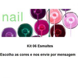 Kit de Esmaltes – Unhas – Kit 06 Unidades
